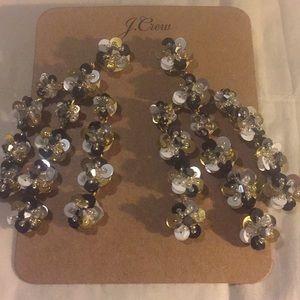 J crew Sequins Chandelier earrings